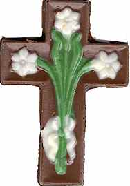 small cross with flowers