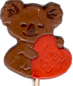 bear holding a heart - pop