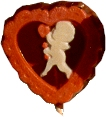 cupid in a heart shaped pop